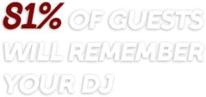 81% of guests will remember your dj