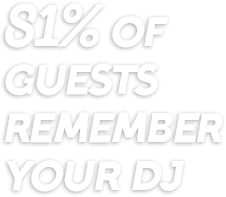 81% of guests remember your DJ